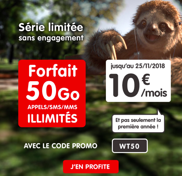 la promotion riche de 50 Go de NRJ Mobile.