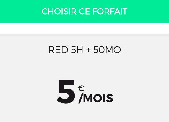 Le forfait bloqué de RED by SFR.