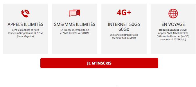 Forfait mobile Free riche en 4G promotion.