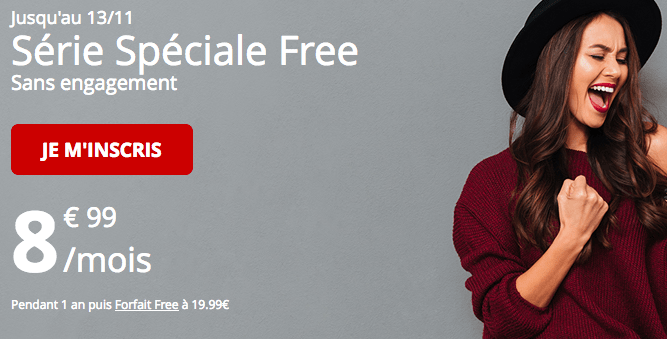Free mobile forfait en promotion.