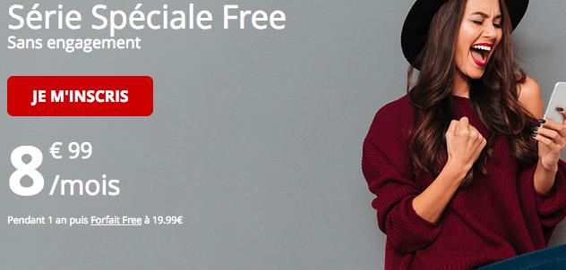 Forfait moble free en série spéciale.