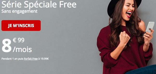 Forfait série spéciale Free promotion.