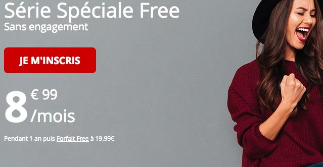 Forfait mobile en série spéciale free.