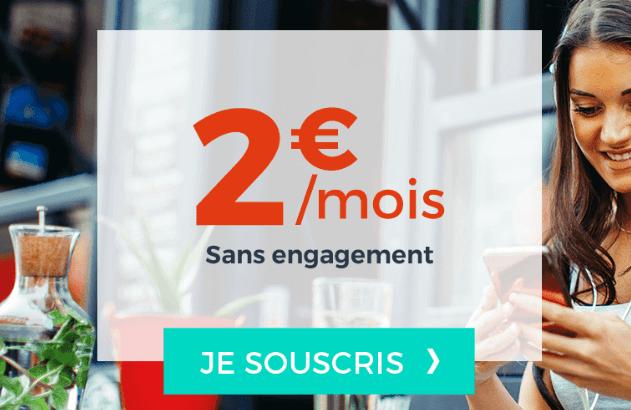 Cdiscount mobile forfait pas cher 2€/mois.