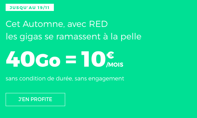 forfait mobile RED by SFR en promotion.
