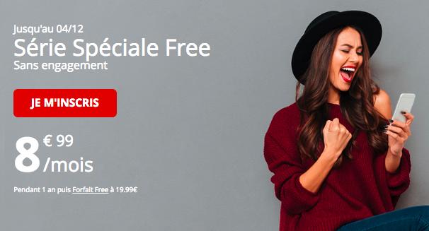 La promotion de Free mobile.