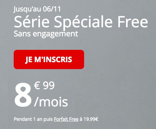 Le forfait Free mobile en promo.