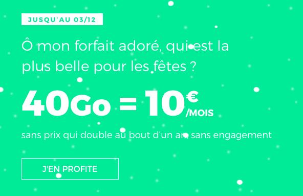 Le forfait en promo de RED by SFR.