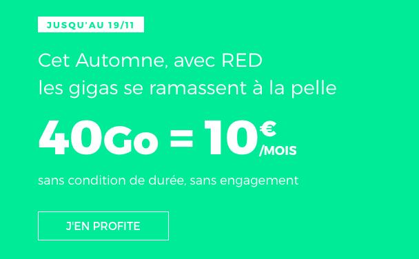 Le forfait RED 40 Go.