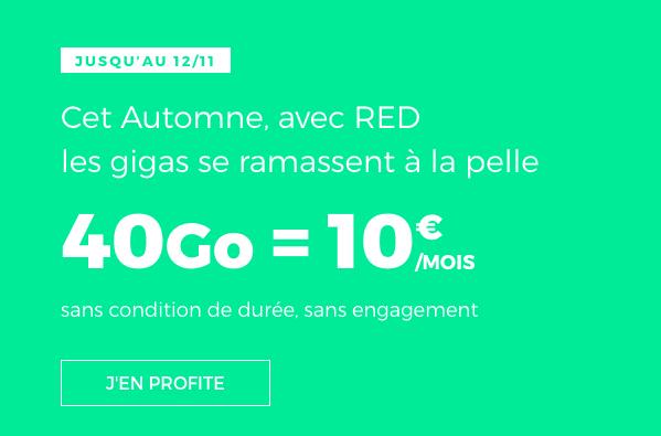 Le forfait à 10€ par mois de RED by SFR.