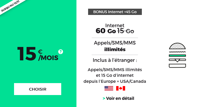 RED by SFR forfait mobile en promotion avec option de roaming.