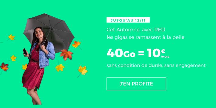 40 Go pour 10€ à vie chez RED.