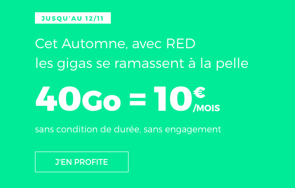 Le forfait RED by SFR.
