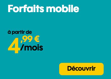 Forfait mobile Sosh en promotion avec 50 Go 4G.