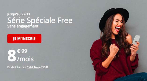 Forfait spécial Free mobile.