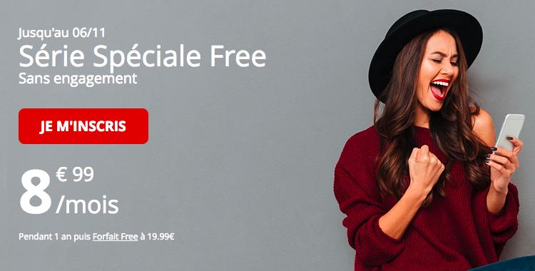 Le forfait Free 60 Go à 8,99€.