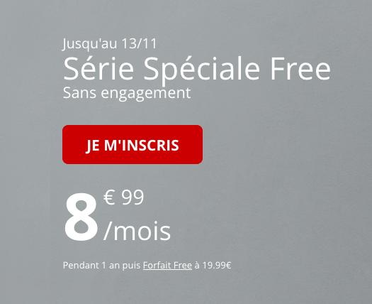 Free Mobile propose un forfait pas cher avec 60 Go de 4G pour 8,99€.