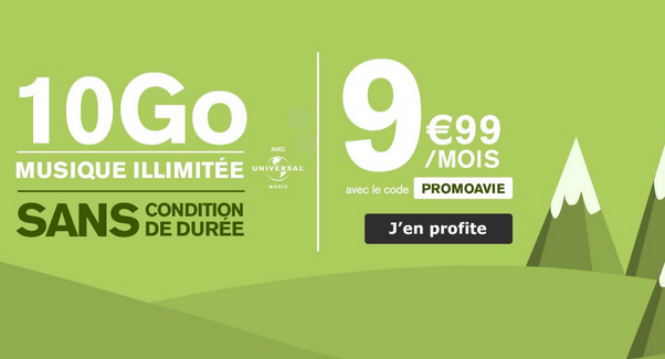 Promotion forfait mobile La Poste mobile.