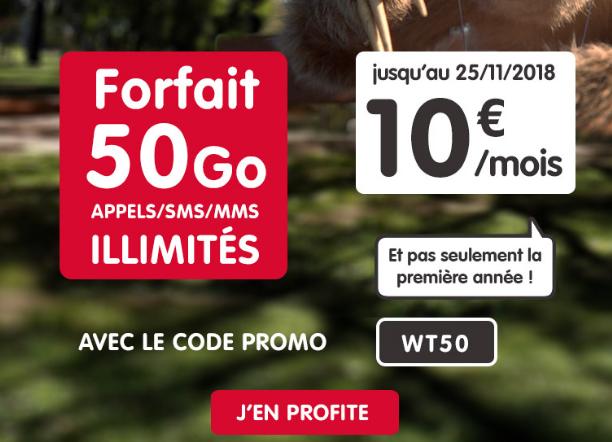 NRJ Mobile et son forfait pas cher pour le Black Friday avec 50 Go de 4G.