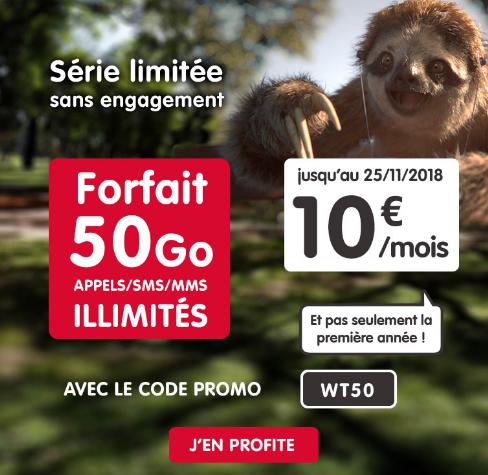 50 Go de 4G pour pas cher avec le forfait du Black Friday de NRJ Mobile.