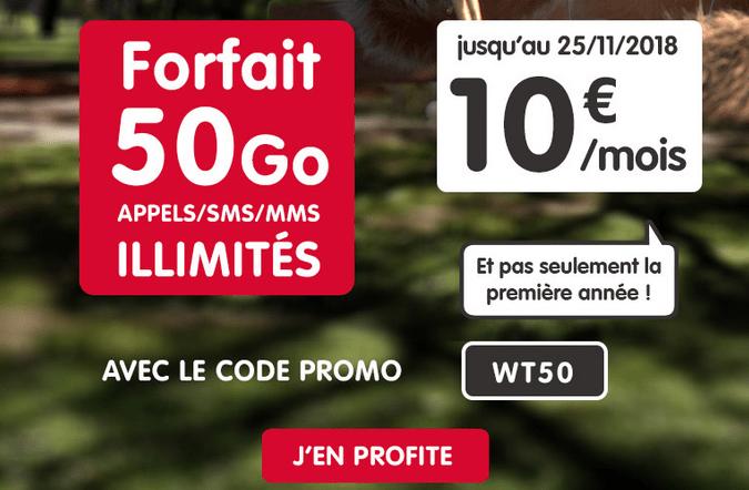 Promotion forfait mobile chez NRJ Mobile.