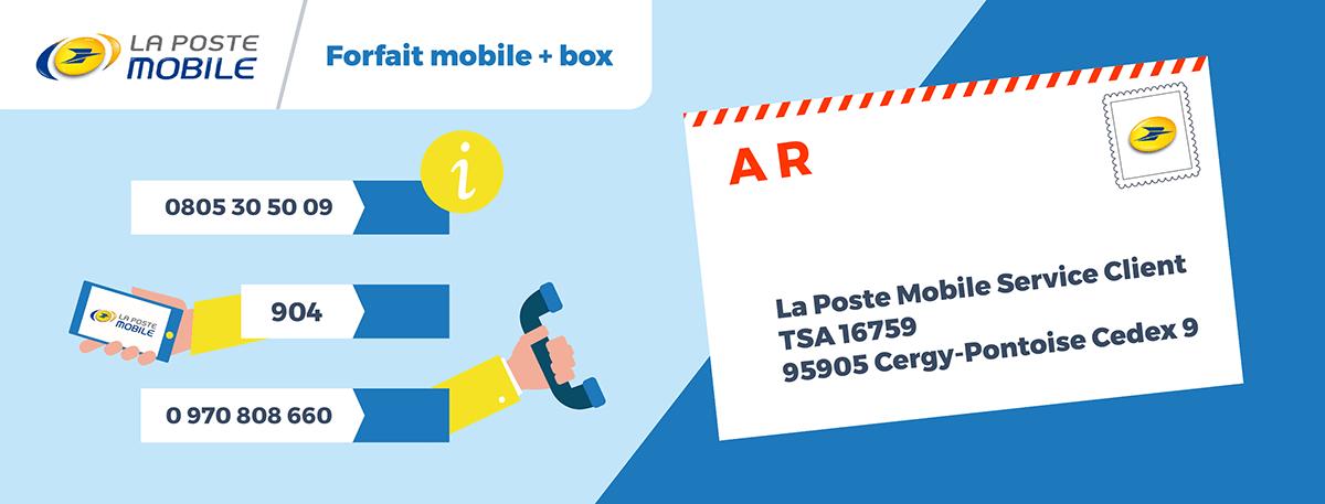Numero service client La Poste Mobile