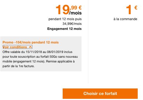 Forfait pas cher et illimité chez Orange pour le Black Friday avec 50 Go de 4G.
