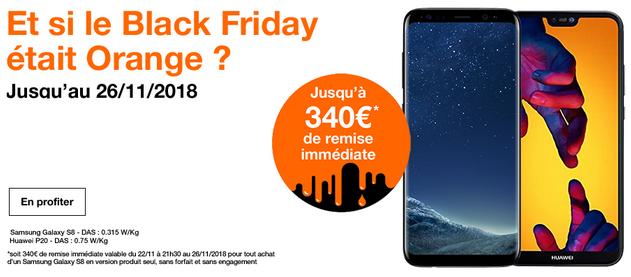 Huawei P20 à bas prix chez Orange pour le Black Friday, ainsi que d'autres smartphones pas chers.