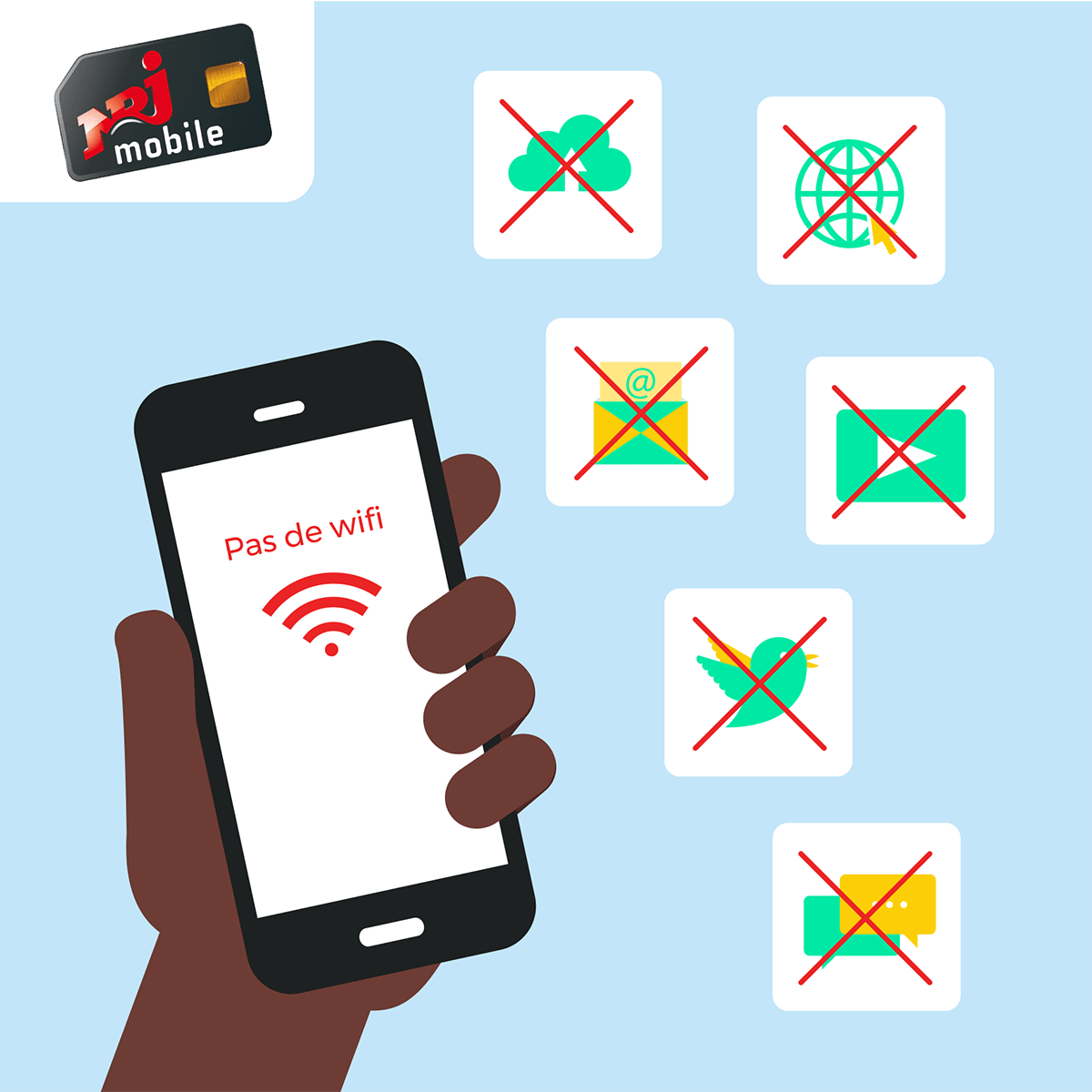 Panne et service client NRJ Mobile