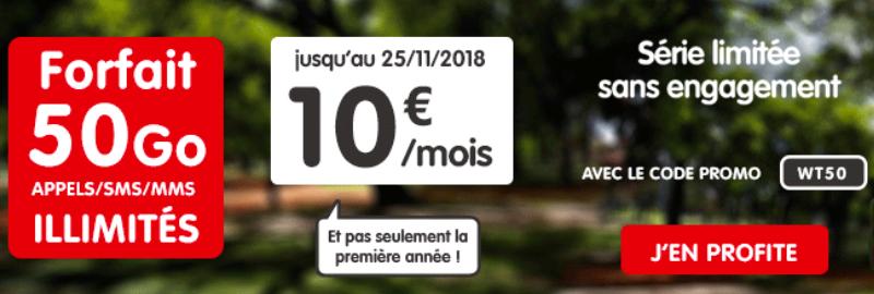50 Go pour 10€ à vie chez NRJ.