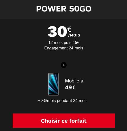 Xperia XZ3 de Sony en vente flash chez SFR avec un forfait illimité.