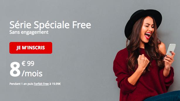 La série spéciale de Free mobile.