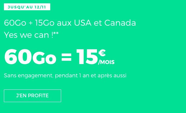 Promotion valable à vie sur forfait mobile RED by SFR.