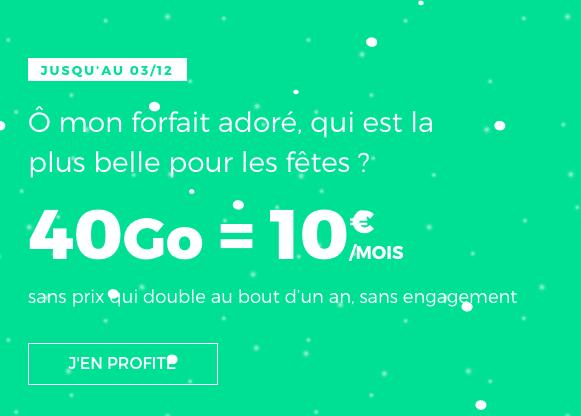 Forfait 4G en promo chez RED by SFR : 40 Go pour 10€.