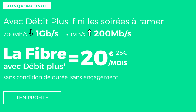 Box internet fibre optique en promotion chez RED by SFR.