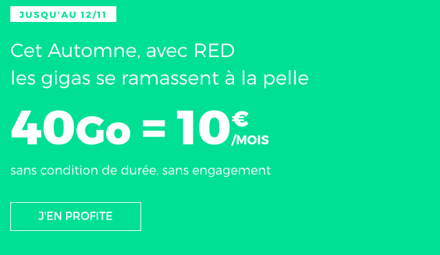 RED by SFR forfait mobile en promotion.