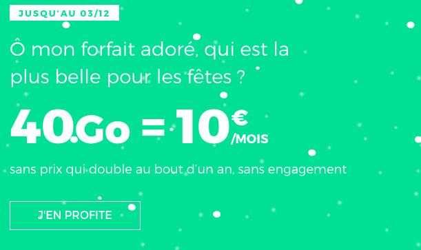 Promotion forfait RED by SFR 40 Go 4G pour 10€ par mois.