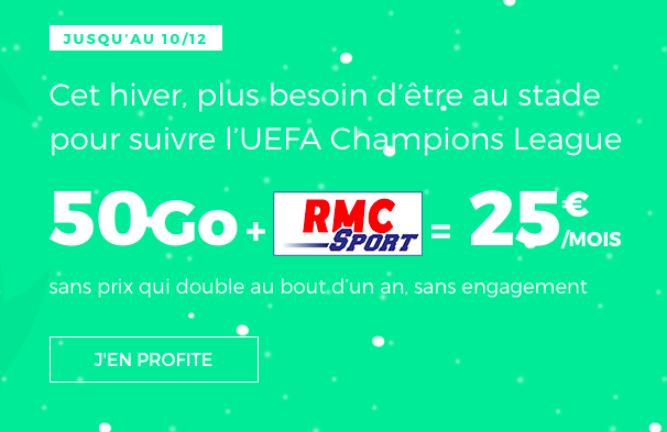 Le forfait RMC Sport de RED by SFR.