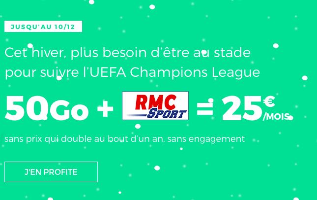 RMC Sport à bas prix avec un forfait pas cher grâce au Black Friday et Noel chez RED by SFR.