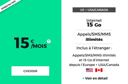 15€pour 15 Go d'Internet à vie avec le forfait pas cher et sans engagement de RED by SFR.