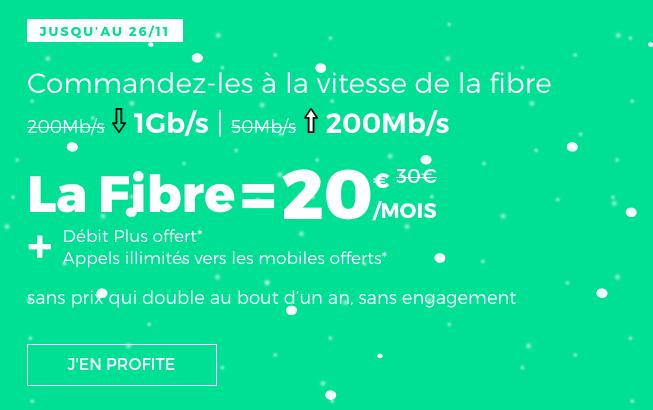 La fibre optimisée sur la box internet en promotion pour le Black Friday et Noel chez RED by SFR.