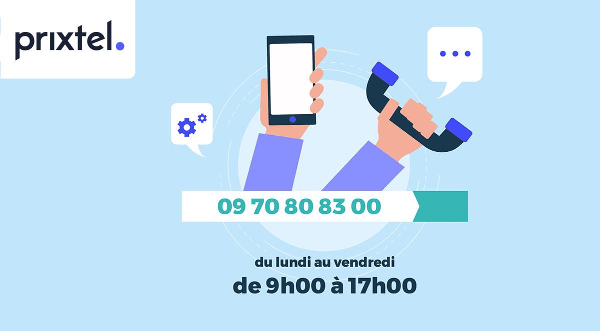 Service client Prixtel téléphone.
