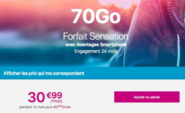 Huawei Mate 20 pro chez Bouygues Telecom pas cher avec sensation 70 Go.