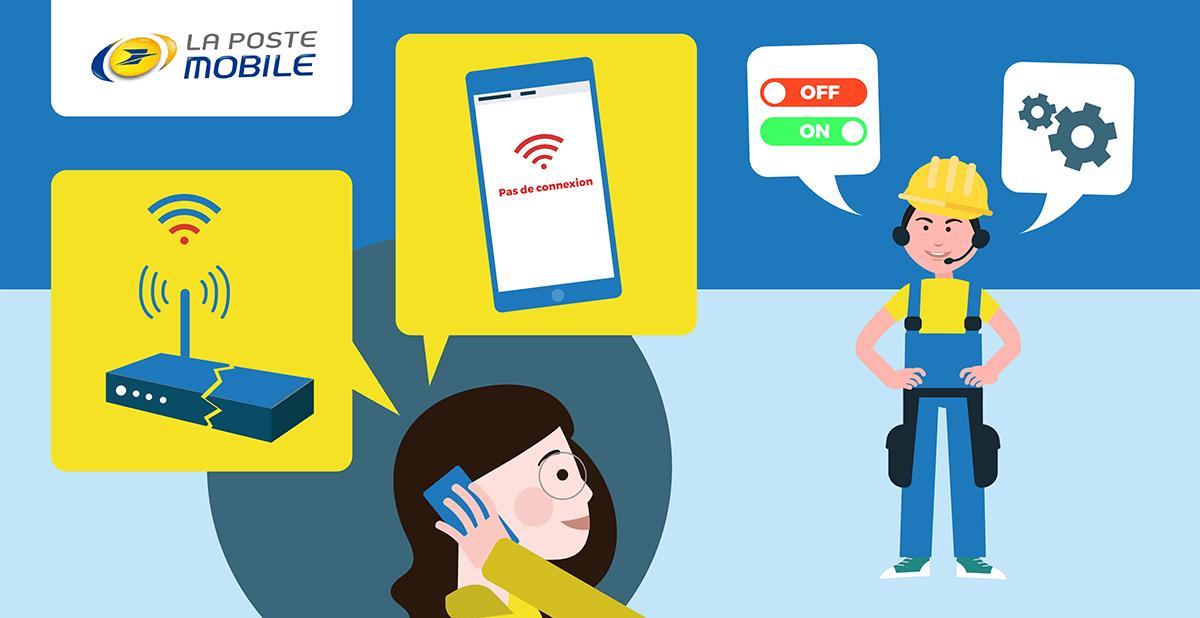 Panne service client La Poste Mobile