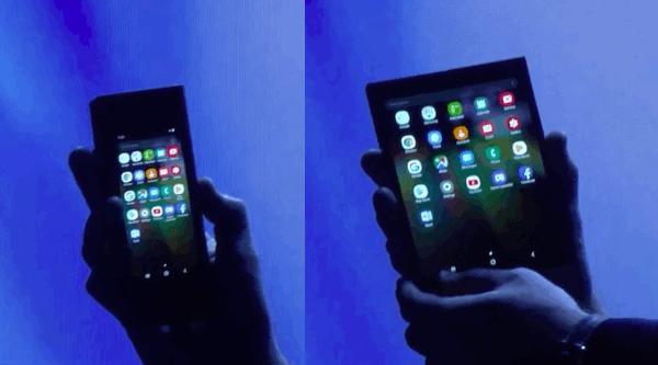 Samsung Smartphone écran pliable.
