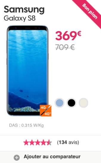 Galaxy S8 de Samsung et d'autres portables pas chers pour le Black Friday de Sosh.