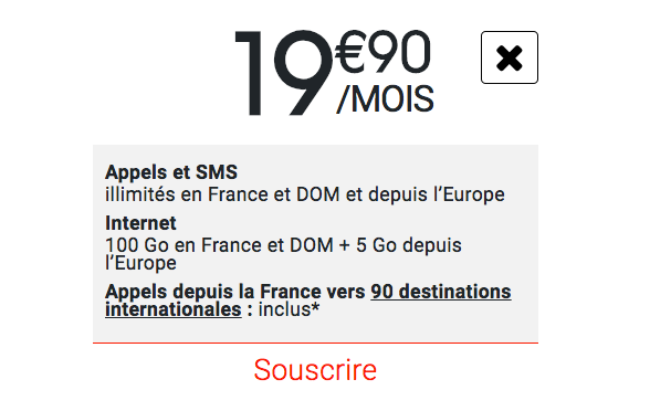 100 Go d'Internet pour 19,90€ par mois chez Syma Mobile.