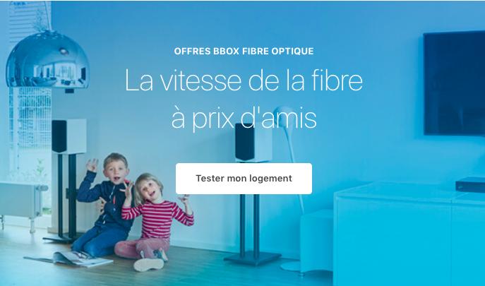 La fibre optique avec Bouygues Telecom.