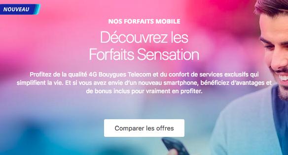 Les forfaits Sensation de Bouygues Telecom.