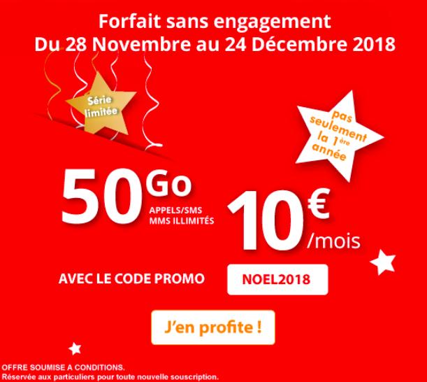 Le forfait 50 Go Auchan Telecom.